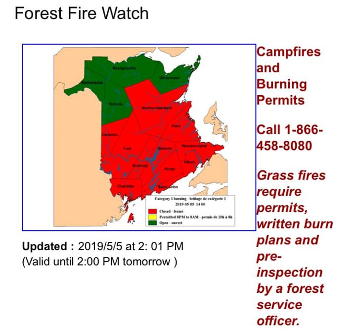 It's a beautiful day out there today but remember to always check NB FOREST…
