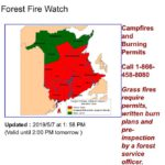 """We're still red, so your fires should be dead!"" Check NB FOREST FIRE WATCH…"
